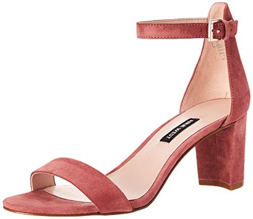 NINE WEST Womens Pruce Block Heeled Sandal Peony 10.5 M