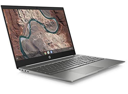 HP Chromebook 15-DE0000NA 15.6 Inch FullHD Chromebook (White) Intel Pentium Gold 4417U, 4GB RAM, 64GB eMMC, Wireless 11ac & Bluetooth 4.2, HD Webcam, Chrome OS (UK Keyboard) - Plain Boxed (Renewed)
