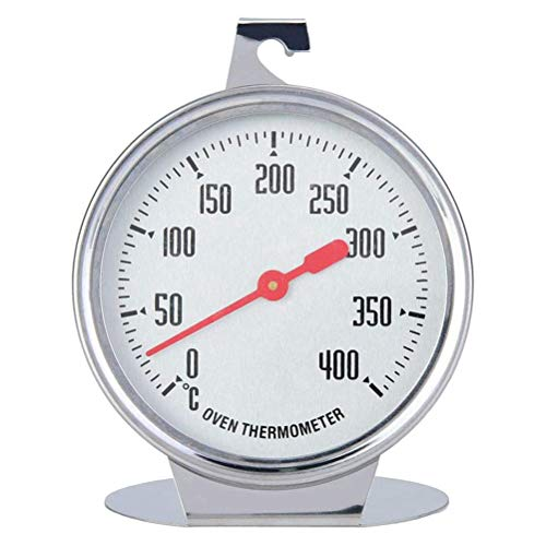 Pywee Termómetro bimetálico de acero inoxidable, termómetro de 300 °C, lectura instantánea, termómetro de alimentos para cocina para barbacoa y sondas de acero inoxidable aptas para alimentos