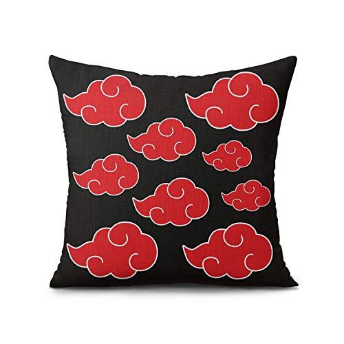 Lumumanber Anime Naruto Pillow Cover Akatsuki Cloud Throw Pillow Kakashi Pillowcase Gifts for Home Decor 18x18 Inch