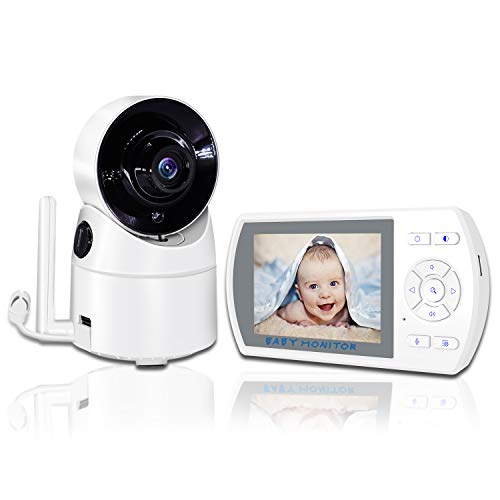 YEHUA babyphone met camera, video, babymonitor, digitale camera, draadloze monitor met 3,5 inch TFT LCD-display, nachtzicht, bidirectionele conversatie, wekker, temperatuurbewaking, babywieglied