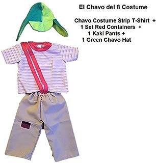 El Chavo del Ocho Party Costume Size 6 Kid Boy Toddler Child Halloween Disfraz 4PCS Brown