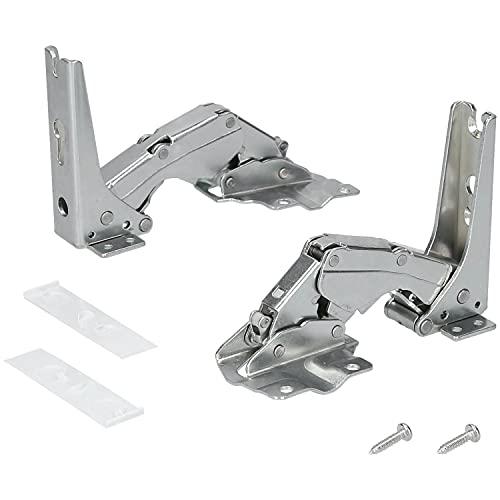 Kenekos - Türscharnier-Set für Kühlschrank Bosch/Siemens 00481147/481147 - 2er Set Scharniere. Auch passend für Geräte von Neff, AEG, Miele, Quelle, Constructa, Balay
