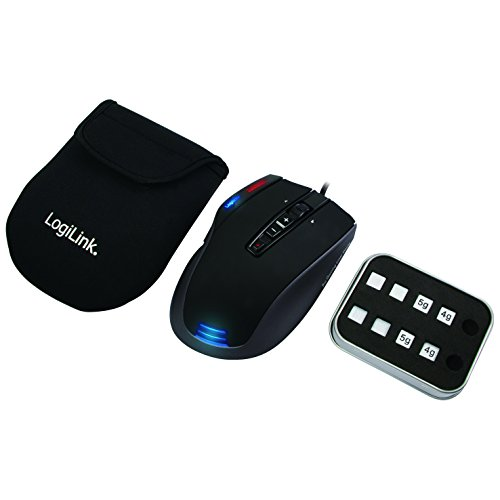 Logilink Q1 Revolution Laser Gaming Maus, 6000 dpi mit Avago 9500 Laser CPU (Turbocore 72 MHz)