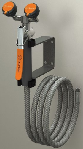 Guardian Equipment G5026 Wall-Mount Eyewash/Drench Hose Unit with Squeeze-Open Valve, One Size