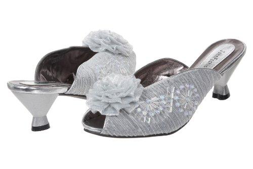 John Fashion , Sandales pour Femme - Argent - Argent, 42 EU (M)