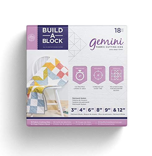 Threaders Bulld Gemini Patchwork System Build-a-Block Textile & Fabric Patch Work Quilting Set, Silver