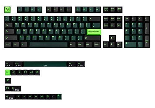 Conjunto de Llaves 127 Teclas/Paquete WaveZ para el Interruptor MX Teclado mecánico PBT Dye Subbed KeyCap Teclado keycaps