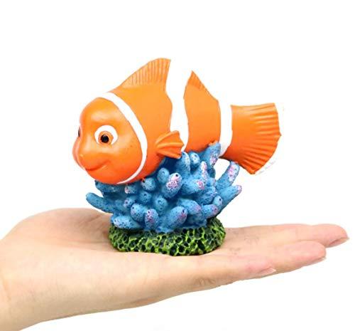 HALAWAKA Aquarium Ornaments Fish Tank Supplies Decorations Undersea cartoon Fish Decoration Clown Fish Shark Turtle