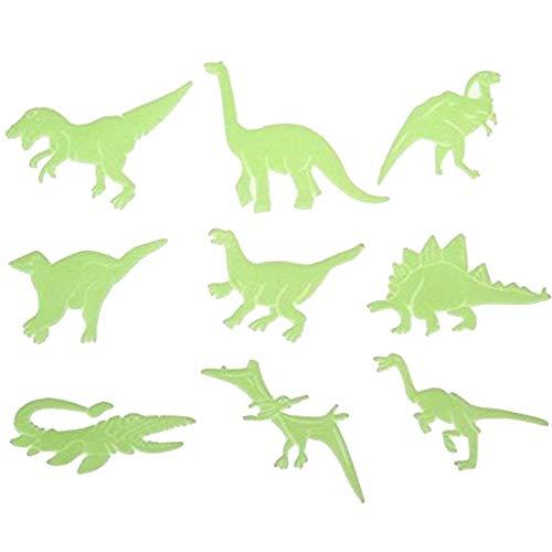 yyuezhi Magische Dinosaurier Selbstklebend Kinderzimmer Babyzimmer Wanddeko Glow in the Dark Dinosaurier Wandsticker DIY Wandtattoos Leuchtende Wandtapeten 9 Verschiedene Formen von Dinosauriern