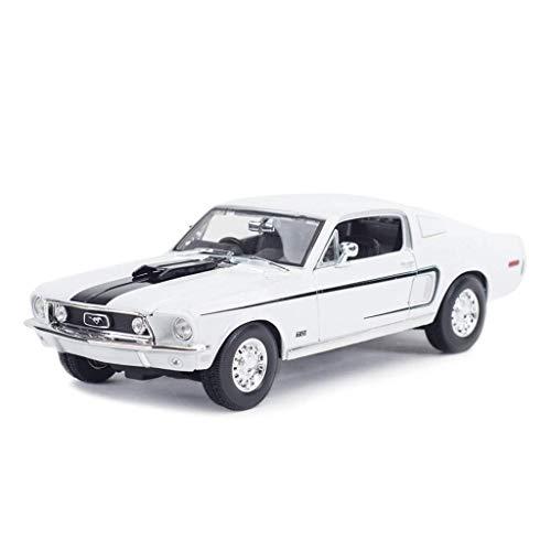 KJAEDL Modelo de Coches para niños 01:18 -Mustang- vehículo de simulación, fundición a presión de aleación de Juguete Modelo de Coche, Regalos de los niños, Decoración de Oficina, 26.3x10x7.4CM