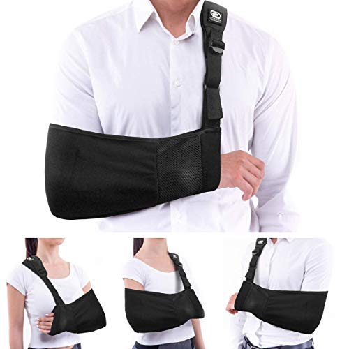 Copper Compression Arm Sling for Men and Women. for Both Left and Right Arms. Guaranteed Highest Copper Arm Shoulder Slings. Immobilizer Support for Broken Arm, Shoulders, Elbow, Rotator Cuff Brace