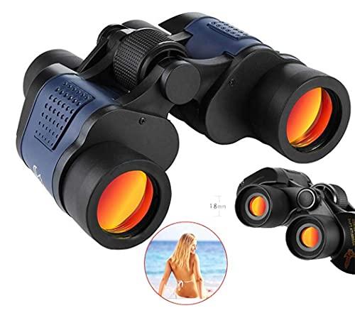 ROM Telescopio monocular, binoculares 60x60, Gafas Impermeables de Alta Potencia, con telescopio de Membrana roja coordinada, Lente con Revestimiento Multicapa para exteriore