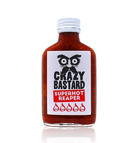 Crazy Bastard Superhot Reaper - Ultra scharfe Chili-Sauce mit 50{6e1a42c7641a803c70b566ae976204a999e32fc73ad7293363ec72e4e2c7cf6f} Carolina Reaper Chili…
