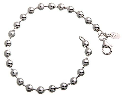 5mm Kugelkette Armband 925 Silber, Länge 18cm