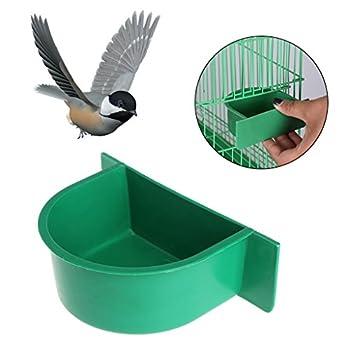 Mangeoire À Oiseaux Alimentation des Aliments pour Eau Perroquet Cage Bol en Plastique Pigeon Dispositif Potable