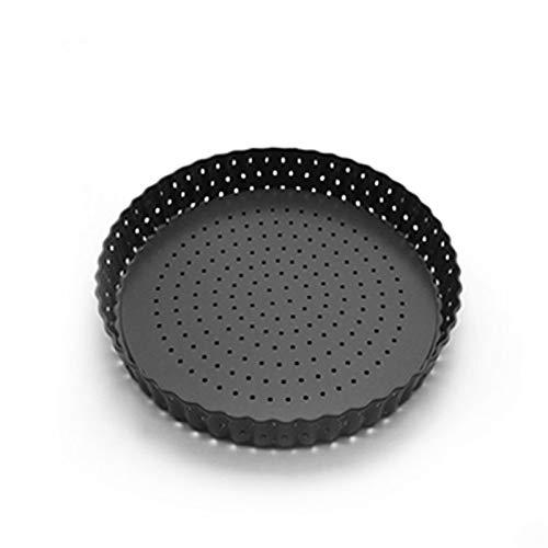 Pizza sartenes con agujeros transpirable de acero al carbono antiadherente antideslizante pizza molde de pizza redondo pastel horneado horno bandeja de horno herramientas para hornear