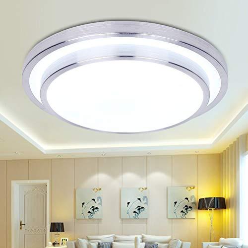 YANGSANJIN LED Bad Decken-Leuchte Sora mit warmweißem Licht aus Aluminium – Badezimmerlampe - Deckenstrahler für Flur – Büro – Küche – Wohnzimmer - Innenlampe für die Dusche, 18W