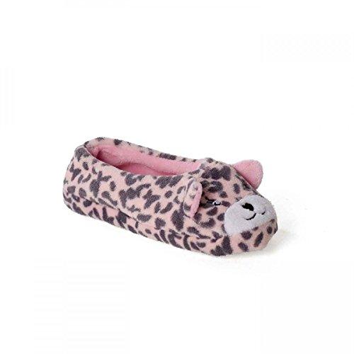 funslippers Damen Tierhausschuhe Hausschuhe Süß Bär Rosa Puschen Pantoffeln Schlappen Plüsch Warm Innensohle Gepolstert Ballerina rutschfest 40/41 EU