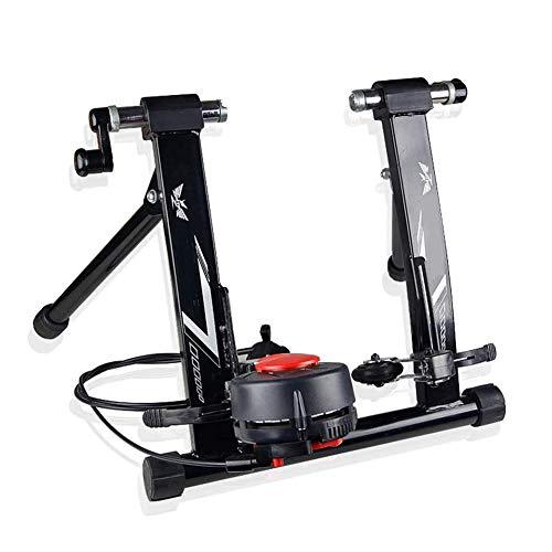 D&F Rulli da Allenamento Trainer per Bicicletta,Rullo per Bicicletta per Allenamento in Casa, Allenamento Magnetico Pieghevole per Ruota da 26'- 28',Nero