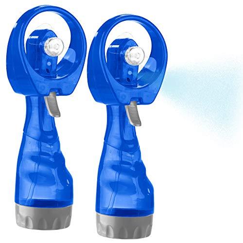 PEARL Sprühventilator: 2er-Set Hand-Ventilatoren mit Wassersprüher, je 300 ml-Wassertank (Ventilator mit Sprühfunktion)