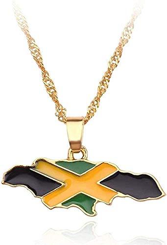 Yiffshunl Collar Collar Collar Mapa del país Bandera Collar África Guinea Ghana Liberia Submarino Jamaica Sudáfrica Congo Honduras Colgante Cadena Hombres Joyería