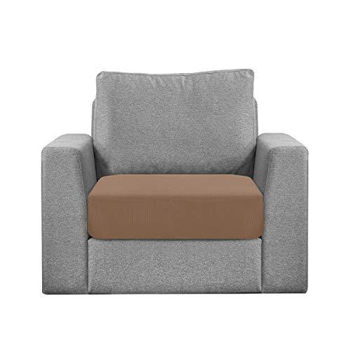 Granbest Sitzkissenbezug, wasserabweisend, für Sofa, Sessel, ausziehbar, aus Jacquard-Stoff (1-Sitzer, Kamel)