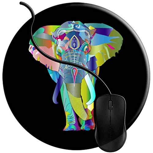 QCFW Alfombrilla de Ratón Elefante Prismático, Alfombrilla de Ratón Ordenador Gaming Superficie Suave Img1750
