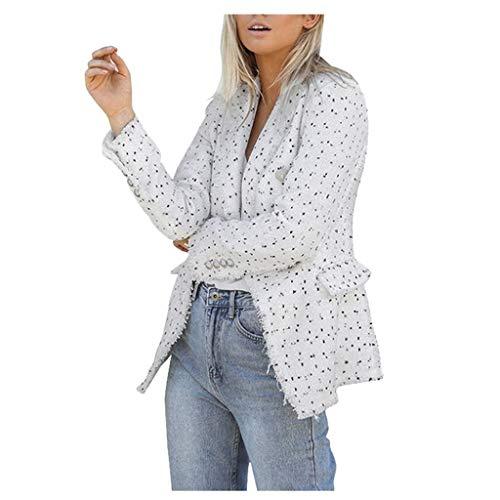 Longra Damen strickblazer Winter Retro Zweireiher Jacke Slim Kurzjacke Freizeit Cardigan Outwear Anzug