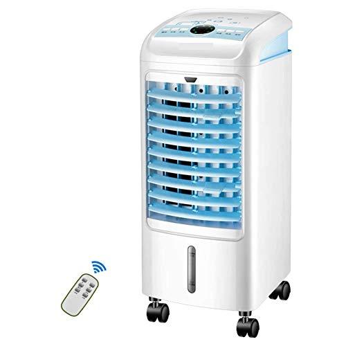 AC-Cooling Refroidissement Unités Ventilateur de refroidissement pour climatiseur portatif, ventilateur de bureau avec climatiseur silencieux et silencieux à 4 roues, humidificateur portatif pour clim