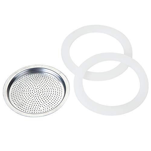 Rossetto Blisters 2 juntas + filtro para cafetera italiana de aluminio clásico y mellina (14 tazas)