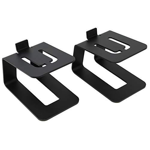 HumanCentric Desktop Speaker Stands | Pair of Speaker Stands for External Sound System Monitors or Computer Speakers for Home Office or Gaming Desk (Black)