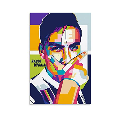HUANGJINDA Dybala-Maske auf Wpap, Poster, Leinwand, Kunstdruck, modernes Design, 20 x 30 cm