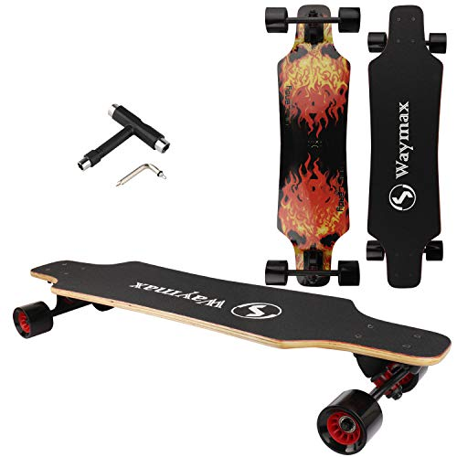 Longboard Skateboard complet – 31 pouces Pro Small Longboard pour hybride, freestyle, sculpture,...