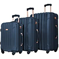 Kensie Women's Alma Hardside Spinner 3-Piece Luggage Set (20/24/28)