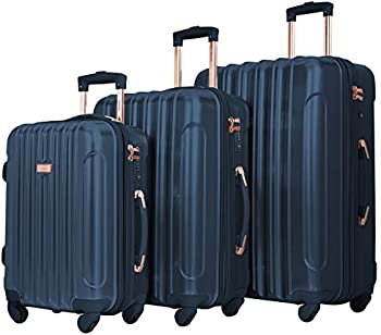 Kensie Women's Alma Hardside Spinner 3-Piece Luggage Set (20/24/28)
