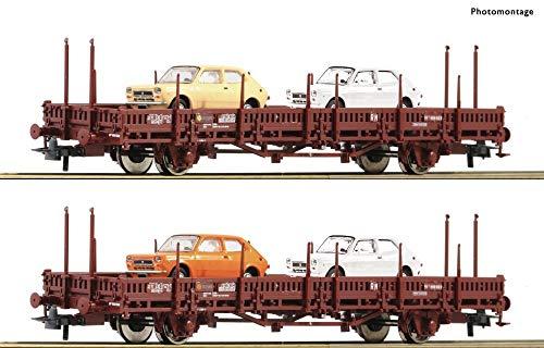 Roco 67086 2-TLG. Set: Rungenwagen, DB