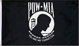 """Wholesale Lot 6 22/""""x22/"""" Black PowMIA Pow Mia Pow-Mia Military Bandana"""