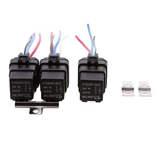 MagiDeal Relais SPST 3X Set Câble Socket Harnais Connecteur 4Pin Voiture Bateau