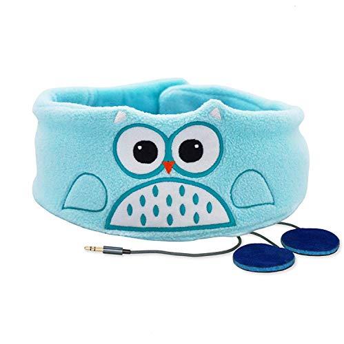 Snuggly Rascals (v.2) Kinder-Kopfhörer, Ultra-bequem, größenverstellbar und mit begrenzter Lautstärke (Vlies, Eule)