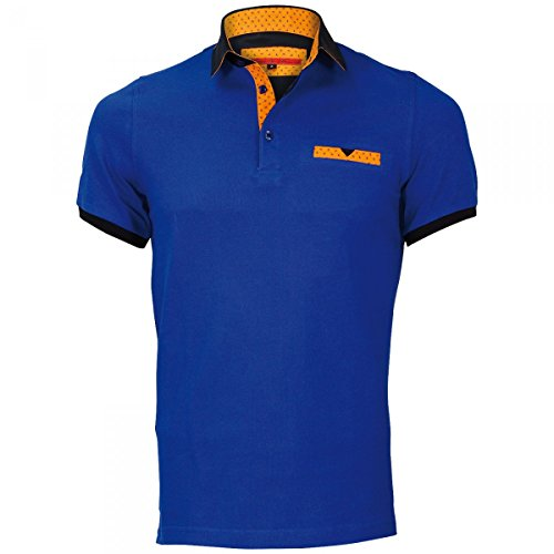 Inconnu Polo col Chemise Warren Bleu - Taille 2XL