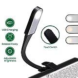 GLIME Leselampe LED Buchlampe USB Wiederaufladbare Leselicht 3-Modus Buch Lampe