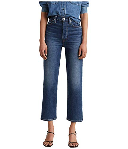 Levi's Women's Ribcage Straight Ankle Jeans, Pick A Draw (Waterless), 28 (US 6)