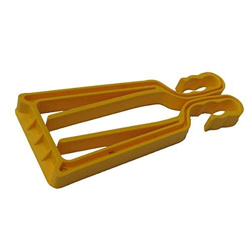 KlipSki - Soporte para esquís y bastones (2 unidades, fáciles y rápidas de usar, para expertos y niños), amarillo