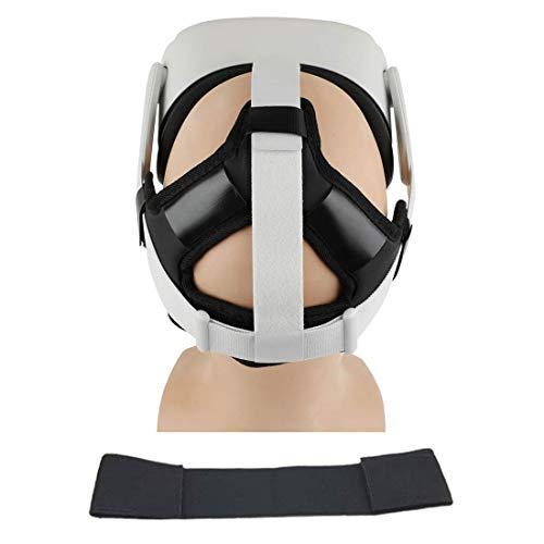 Eyglo Stirnband Kopfpolster + Kopfgurt für Oculus Quest VR Headset Reduzieren Sie den Kopfdruck Schützen Sie den Kopf Oculus Quest Zubehör Komfortables Kopfpolster