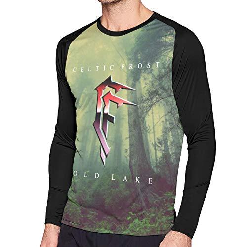 Celtic Frost Men Long Sleeve T-Shirt Funny Printing Raglan T-Shirt Black XXL