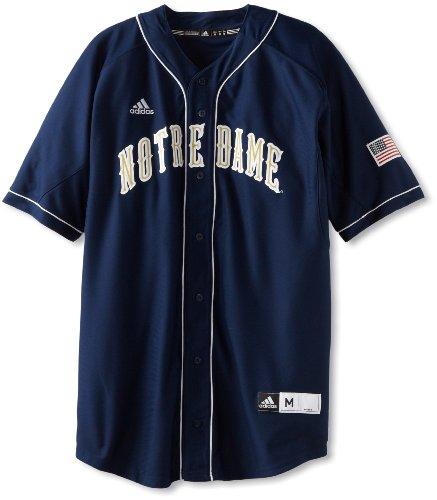 adidas NCAA Notre Dame Fighting Irish Herren Premier Baseball Trikot, Marineblau, Größe S