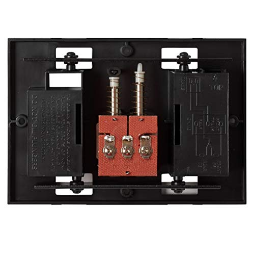 """Newhouse Hardware CHIMEBASE2 Door Bell Chime Mechanism Assembly, Fits Most Nutone Models, 6.75"""" L x 4.75"""" W x 1.75"""" H, Black"""