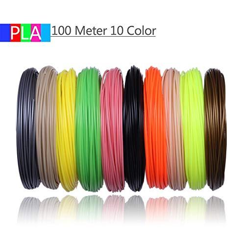 XuBaoFu, 2019 20 Colores o 10 Colores o 5 Colores/Set 3D Fila Filamento ABS/PLA 1.75mm Material de impresión de Goma plástica for la Impresora 3D Fila filamento (Color : Tran Red)