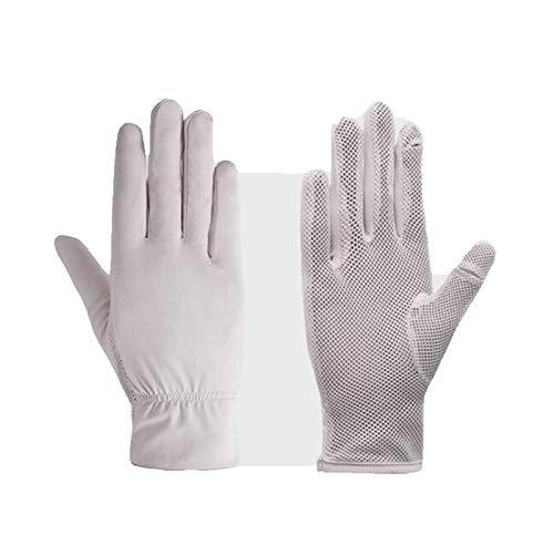 Hombres solares transpirables Split Finger Gloves + Hombres Mujeres Guantes del sol, Guantes de pesca, Adecuado para conducir Pesca Pesca Golf Golf Actividades al aire libre Guantes de protección sola